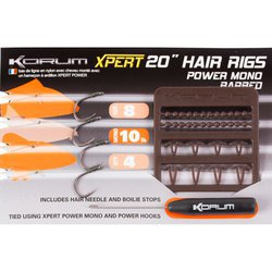 Поводок KORUM XPERT POWER MONO HAIR RIG BARBED 4 шт. №6