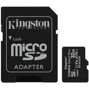 Kingston microSDHC Canvas Select Plus 32GB Class 10 UHS-I + SD adapter (SDCS2/32GB)